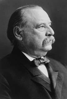 US President Grover Cleveland